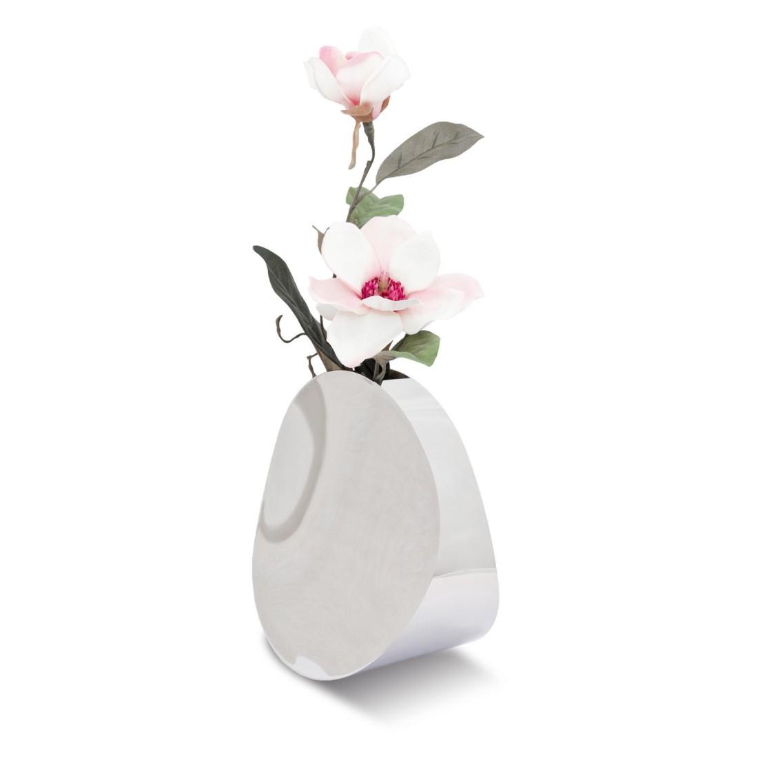 Vase Discus – Naturbelassenes Metall – Metall, Zilverstad kaufen