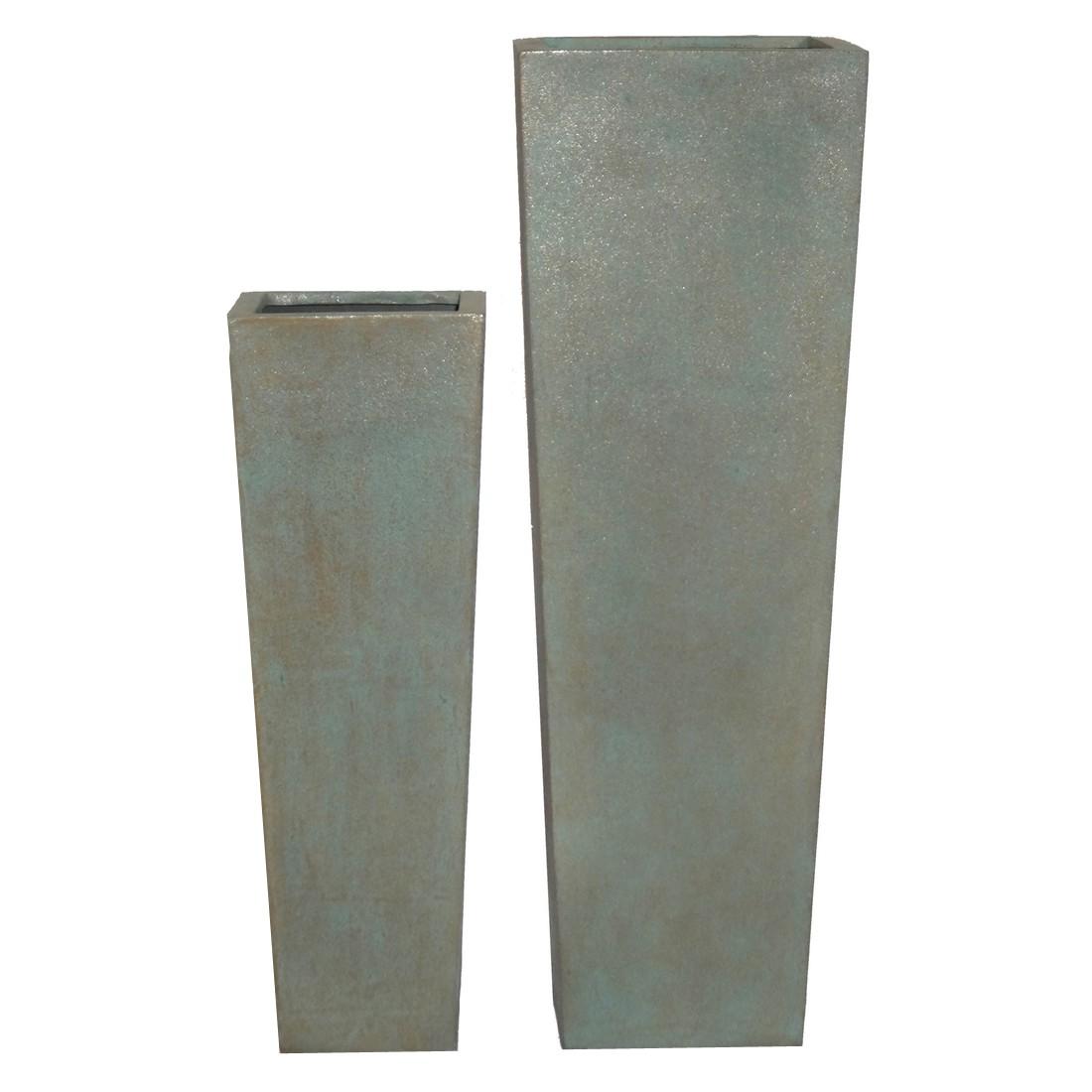 Pflanzkübel Copper Green – Kunststoff – Classic Eckig – 90 x 30 cm, Viducci's Garden günstig kaufen