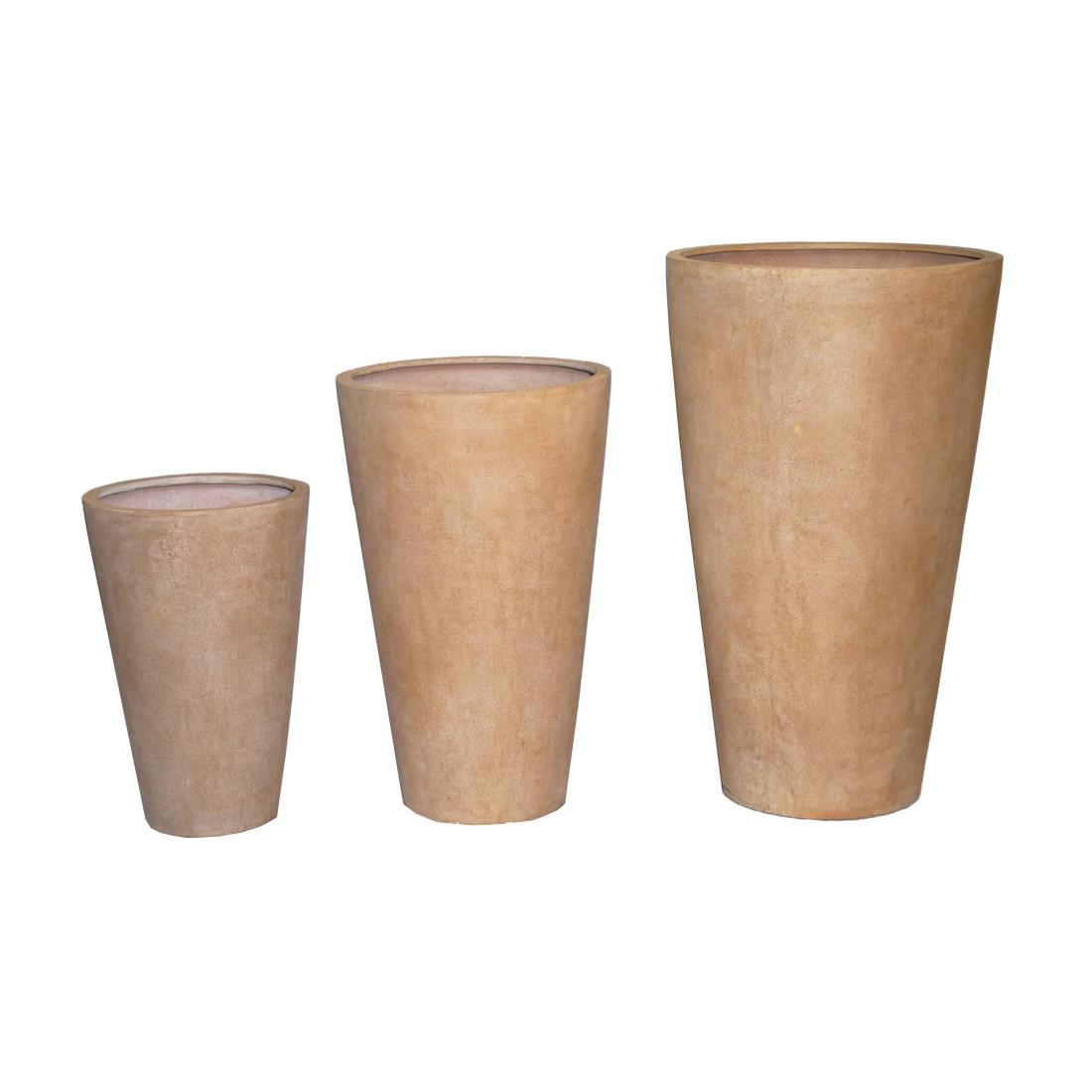 Pflanzkübel ISI Cotto – Kunststoff – Terracota – Classic Rund – Normal – 3er-Set, Viducci's Garden bestellen