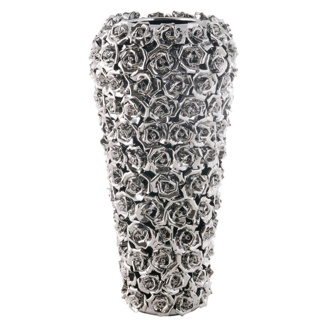 Vase Rose Multi Chrom Small – Porzellan – Handarbeit Grau, Kare Design günstig bestellen