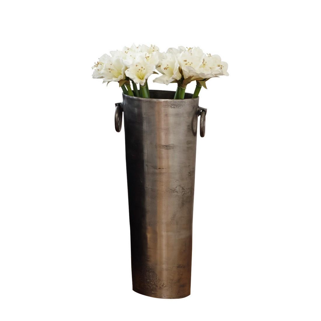 vase shanice aluminiumguss silber loberon g nstig online kaufen. Black Bedroom Furniture Sets. Home Design Ideas