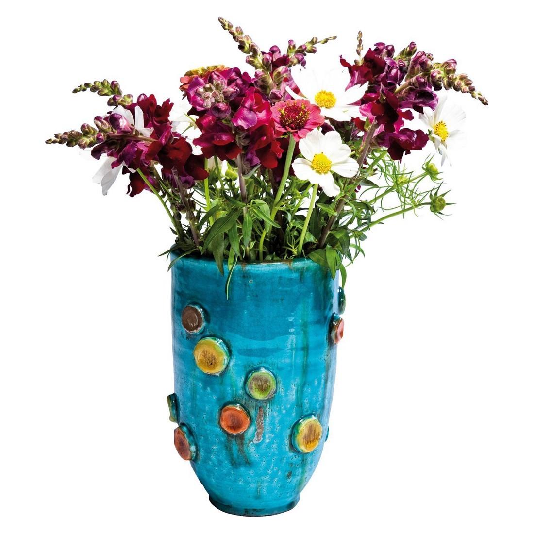 Vase Soriso Circle 26cm – Steingut, glasiert Mehrfarbig, Kare Design bestellen