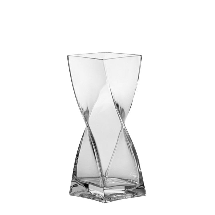 Vase Swirl - Klar - 25 cm, Leonardo