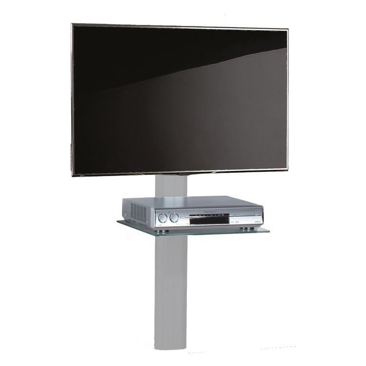 TV-Wandhalterung Trento – ESG-Sicherheitsglas – Aluminium Schwarzglas – Silbernes Aluminium, VCM kaufen