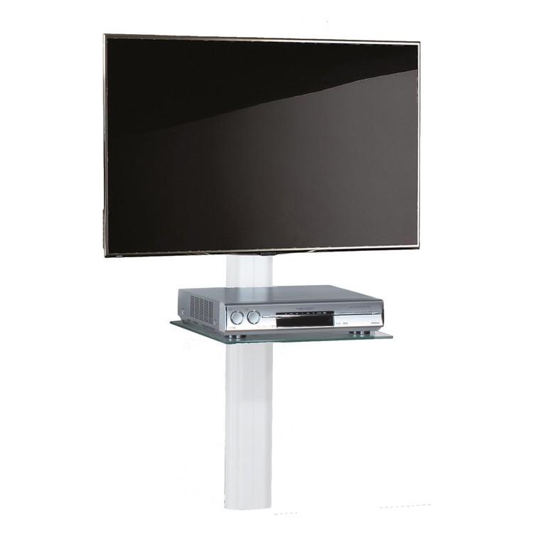 TV-Wandhalterung Trento – ESG-Sicherheitsglas – Aluminium Schwarzglas – Weisses Aluminium, VCM jetzt kaufen