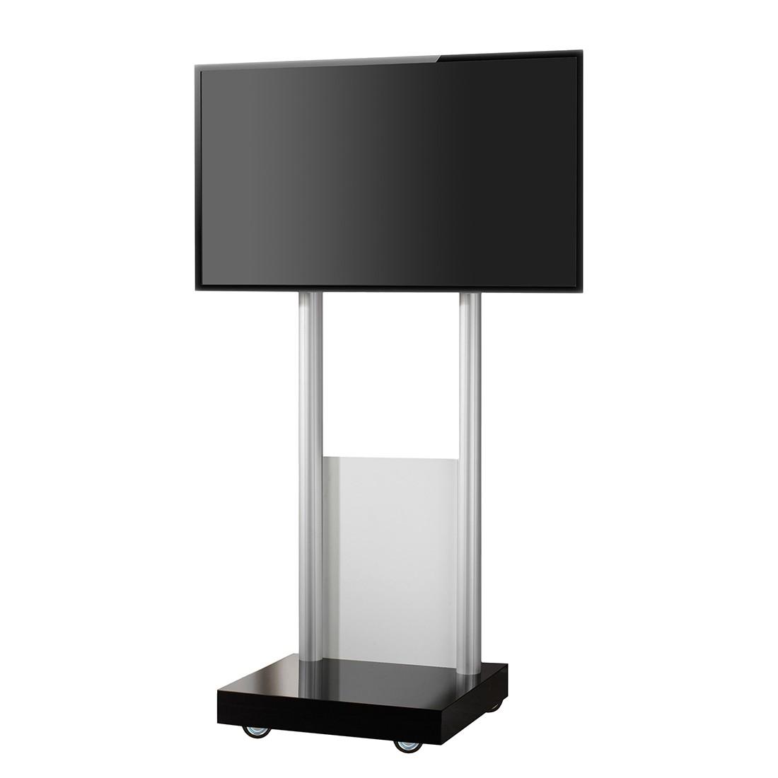 TV-Standfuß Monte Visolo 1 – TV Standfuß – Melamin / Aluminium Schwarz, VCM günstig online kaufen