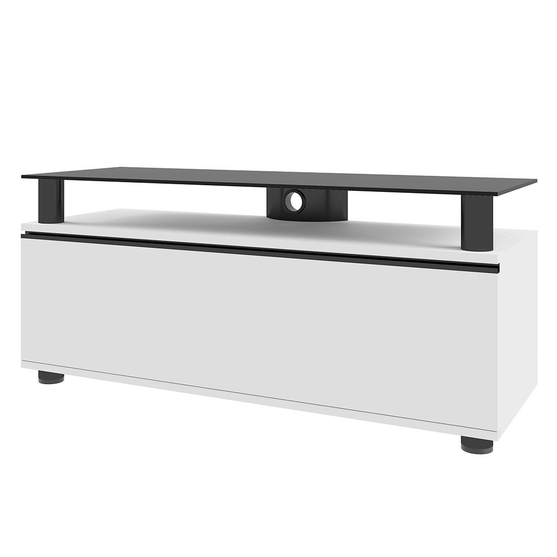 TV-Lowboard Clano – Rack – MDF / Aluminium / ESG-Sicherheitsglas Weisslack, VCM kaufen