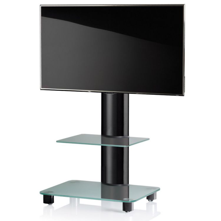 vcm tv standfuss tosal schwarz mit zwischenboden tv rack. Black Bedroom Furniture Sets. Home Design Ideas
