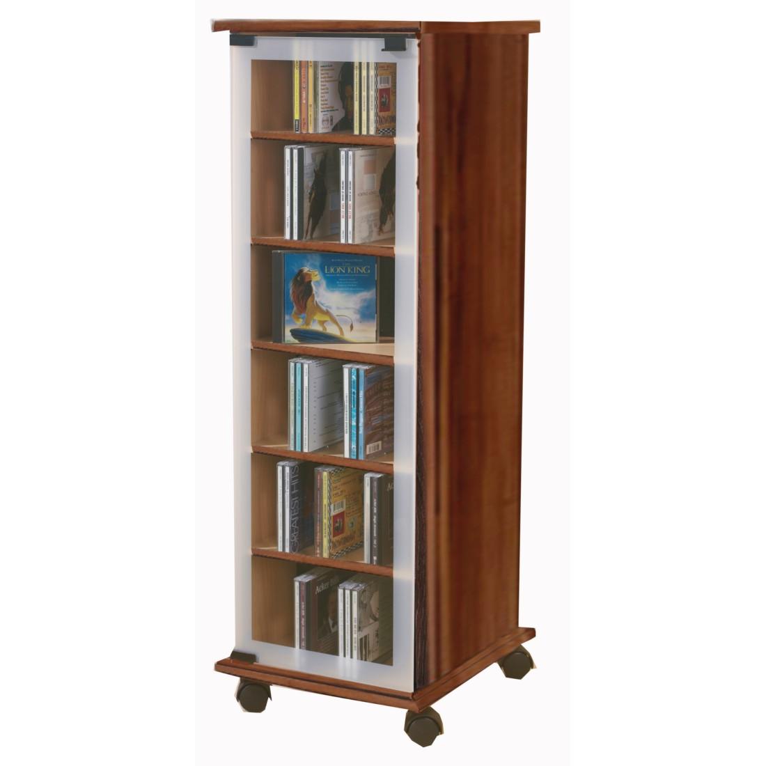 dvd cd regal valenza nussbaum dekor vcm g nstig online kaufen. Black Bedroom Furniture Sets. Home Design Ideas