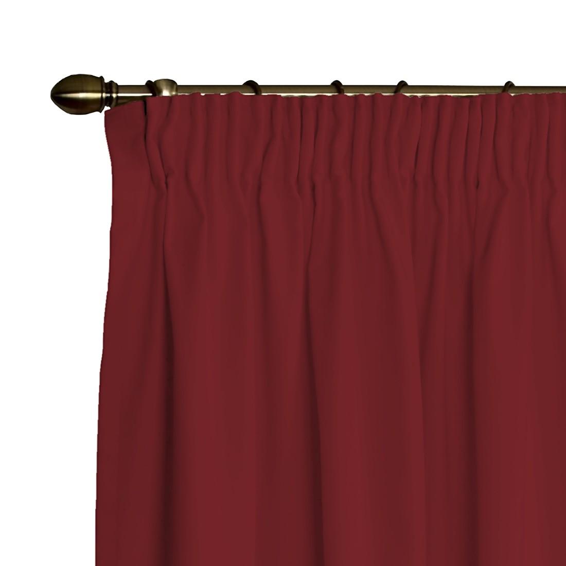 Verdunklungs-Vorhang mit Kräuselband – Burgund – 130×260 cm, Dekoria günstig