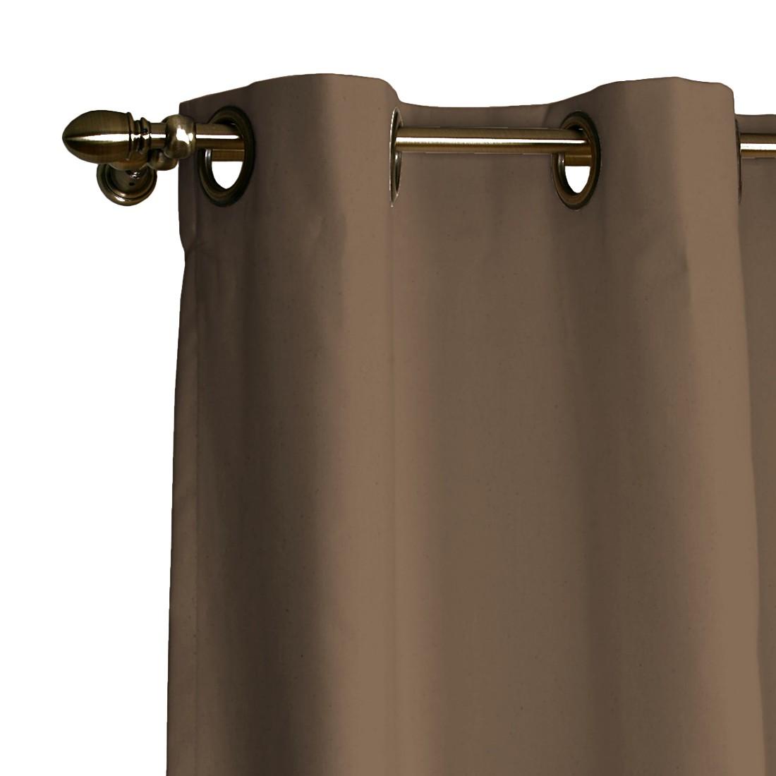 Verdunklungs-Vorhang mit Ösen – Hellbraun – 130×260 cm, Dekoria bestellen