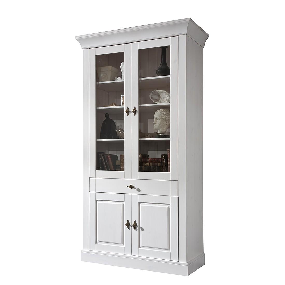 vitrine weiss landhaus preisvergleiche. Black Bedroom Furniture Sets. Home Design Ideas