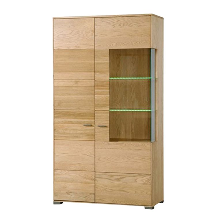 vitrine bavari eiche massiv naturbelassen schrank. Black Bedroom Furniture Sets. Home Design Ideas