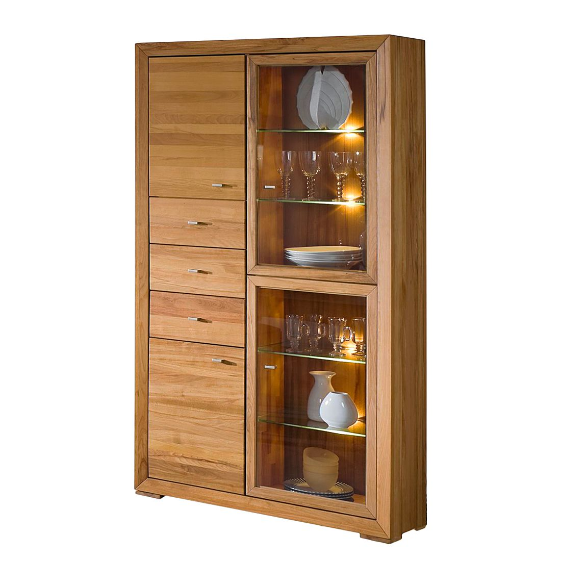 eek a vitrine brandon wildeiche massiv mit beleuchtung jung s hne g nstig kaufen. Black Bedroom Furniture Sets. Home Design Ideas