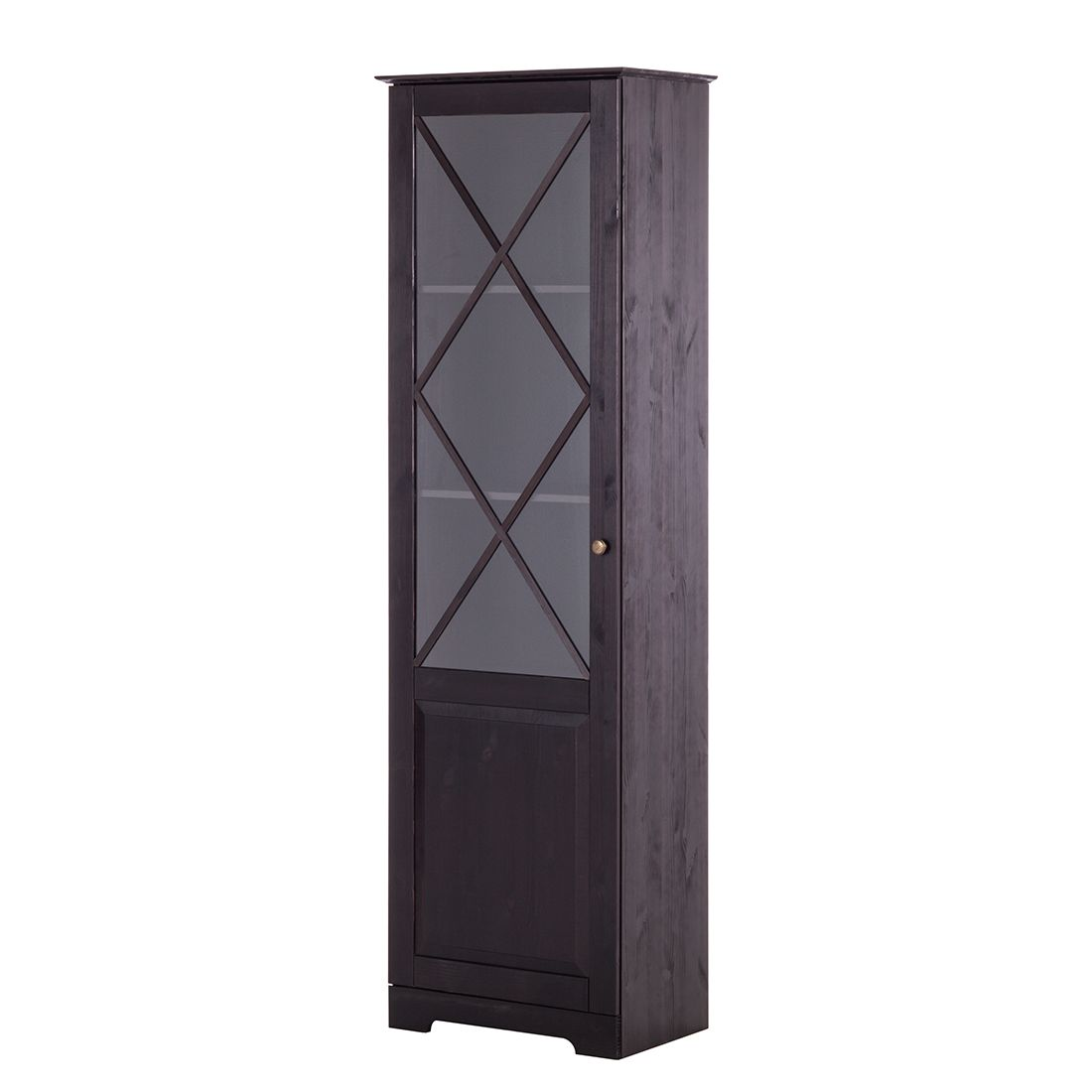 vitrine nora kiefer massiv havanna. Black Bedroom Furniture Sets. Home Design Ideas