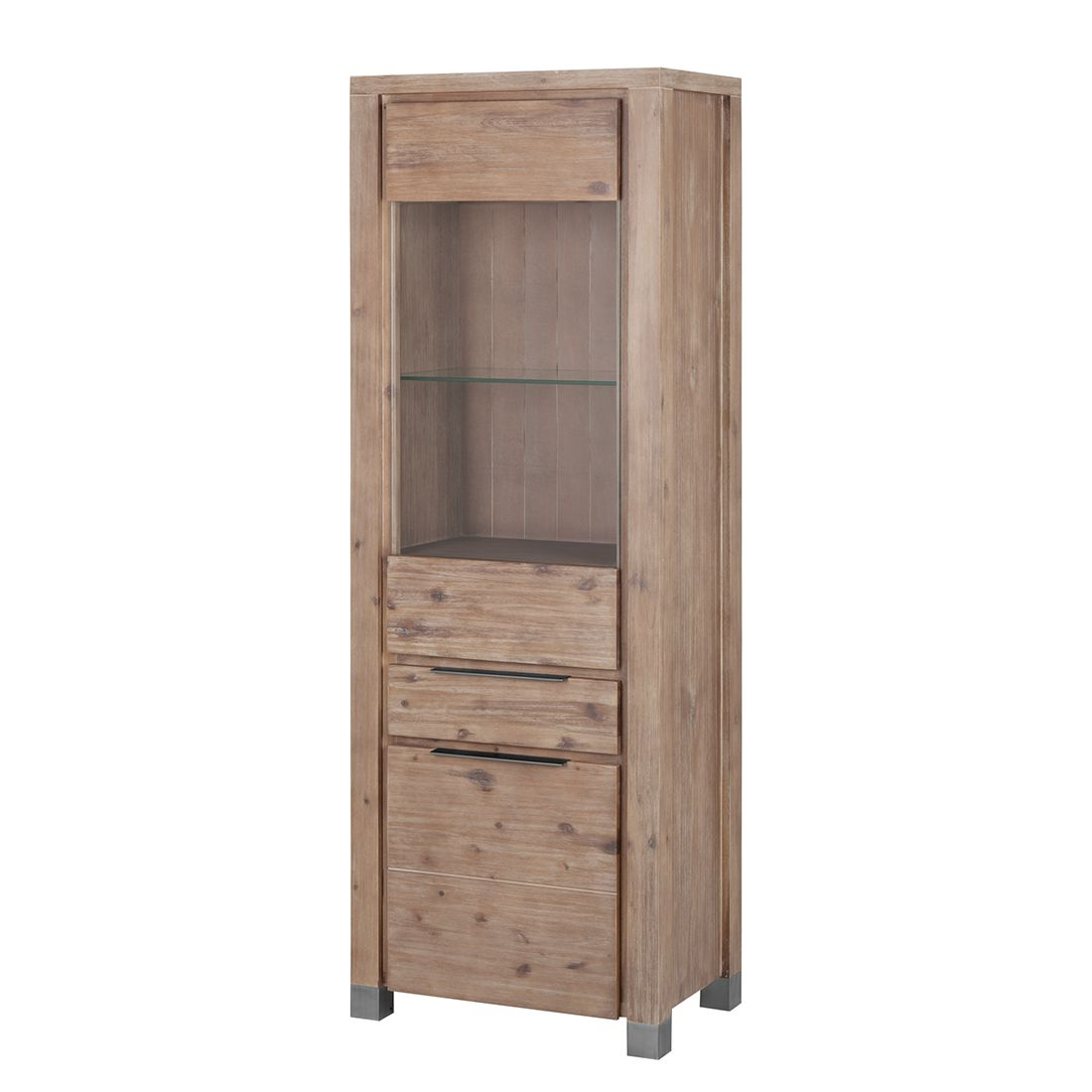 vitrine delia akazie massiv braun vitrine delia. Black Bedroom Furniture Sets. Home Design Ideas