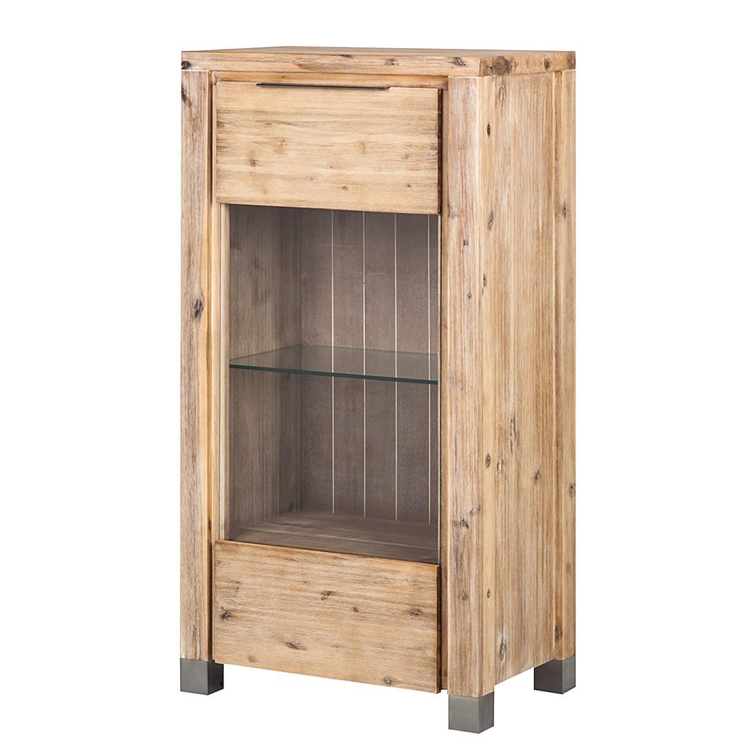 vitrine delia akazie massiv sand ebay. Black Bedroom Furniture Sets. Home Design Ideas