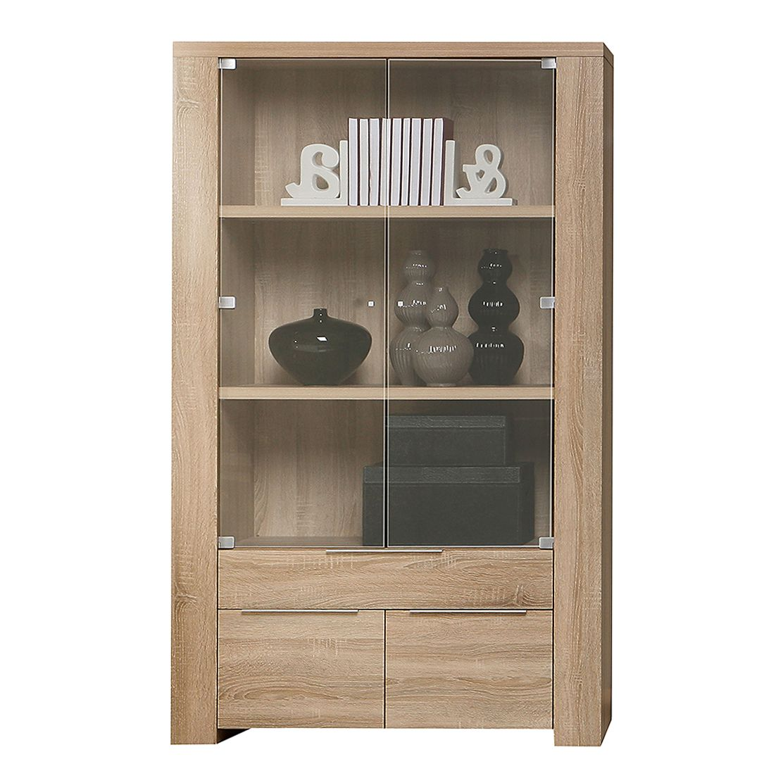 vitrine edmonton ii sonoma eiche dekor vitrine edmonton i sonoma eiche dekor schrank. Black Bedroom Furniture Sets. Home Design Ideas