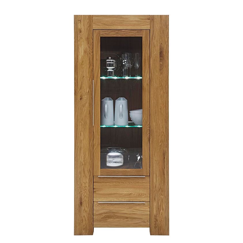 vitrine furios eiche massivholz glas ge lt klar vitrine furios eiche massivholz glas. Black Bedroom Furniture Sets. Home Design Ideas