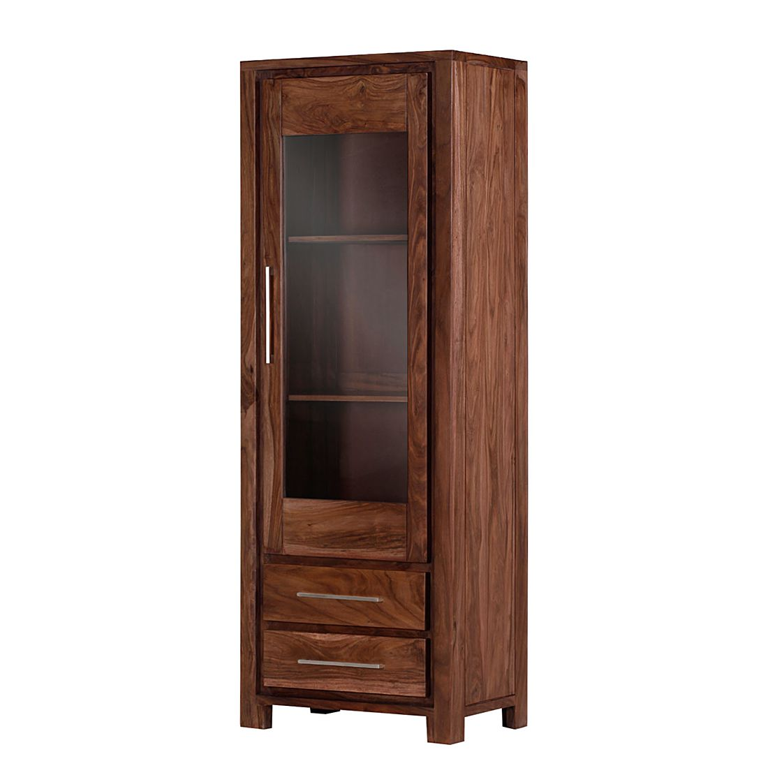 vitrine jambi 1 sheesham massiv gebeizt matt. Black Bedroom Furniture Sets. Home Design Ideas