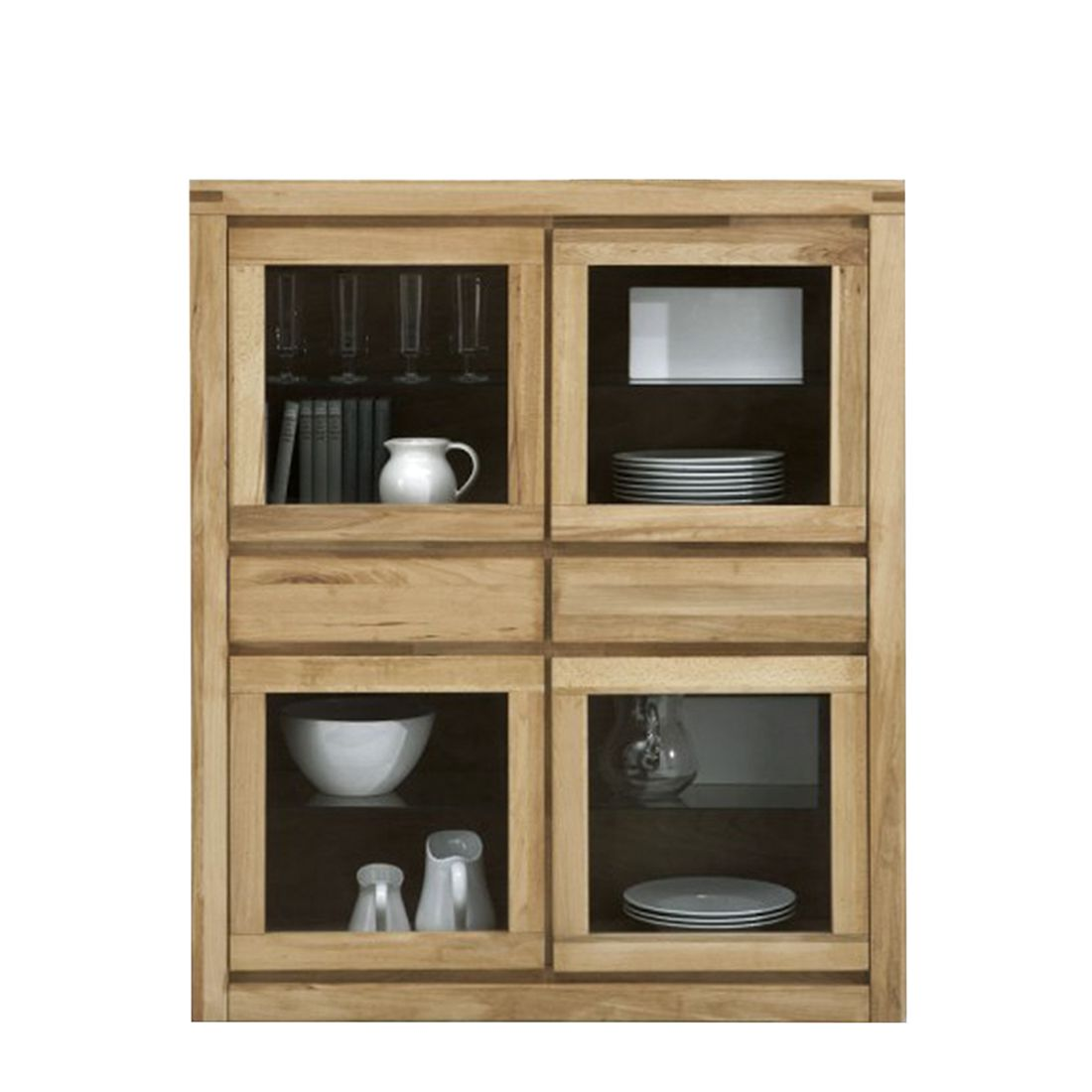 vitrine merle kernbuche massiv ge lt lackiert ge lt. Black Bedroom Furniture Sets. Home Design Ideas