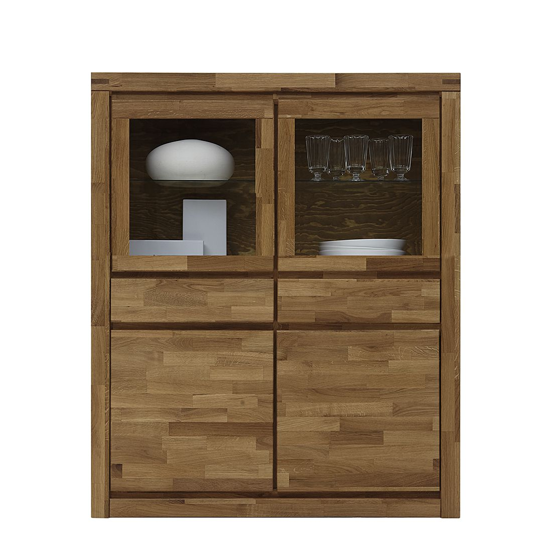 vitrine merle kerneiche massiv ge lt merle vitrine niedrig breit kerneiche massiv. Black Bedroom Furniture Sets. Home Design Ideas