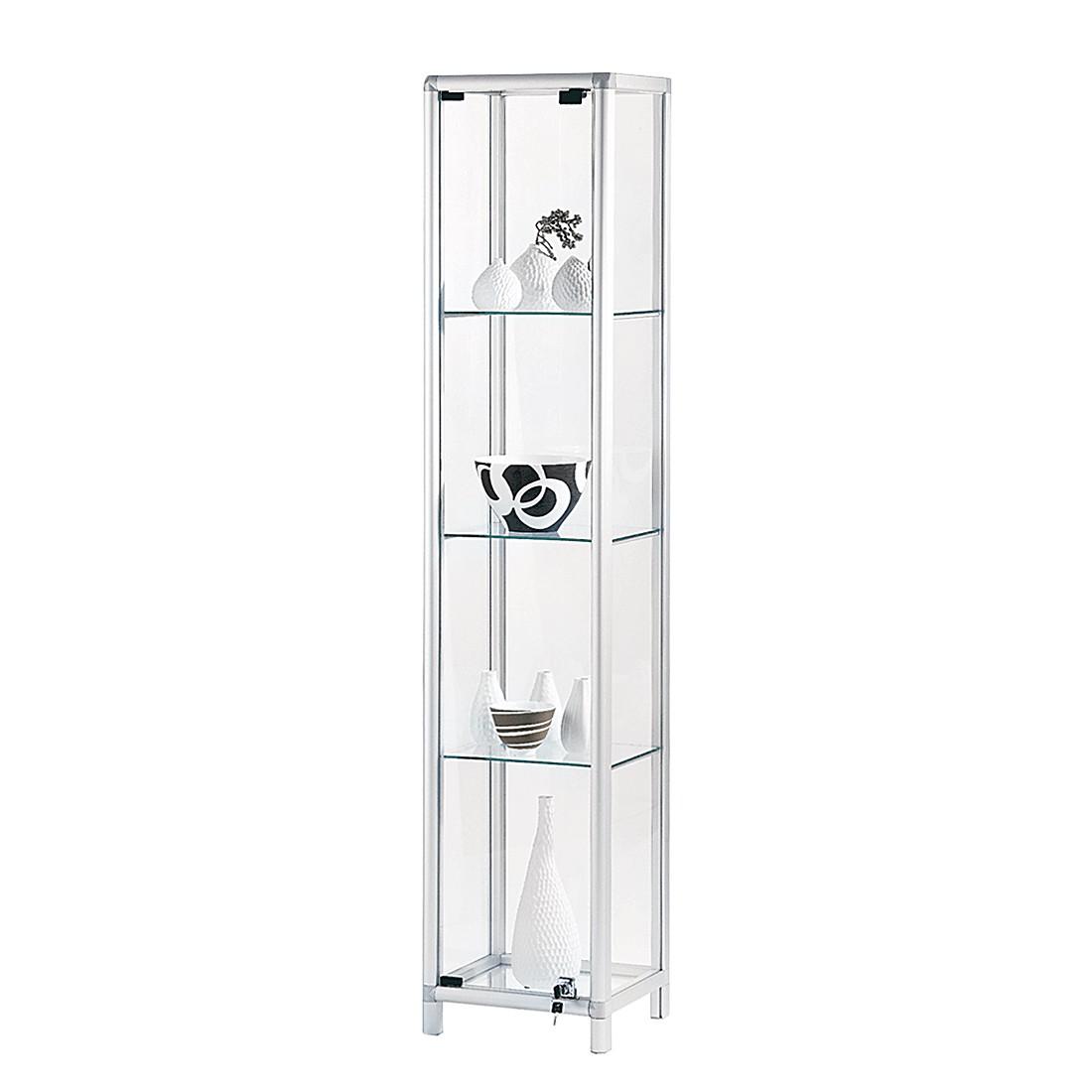 Vitrine Show - Aluminium/Glas - Silber/Klar