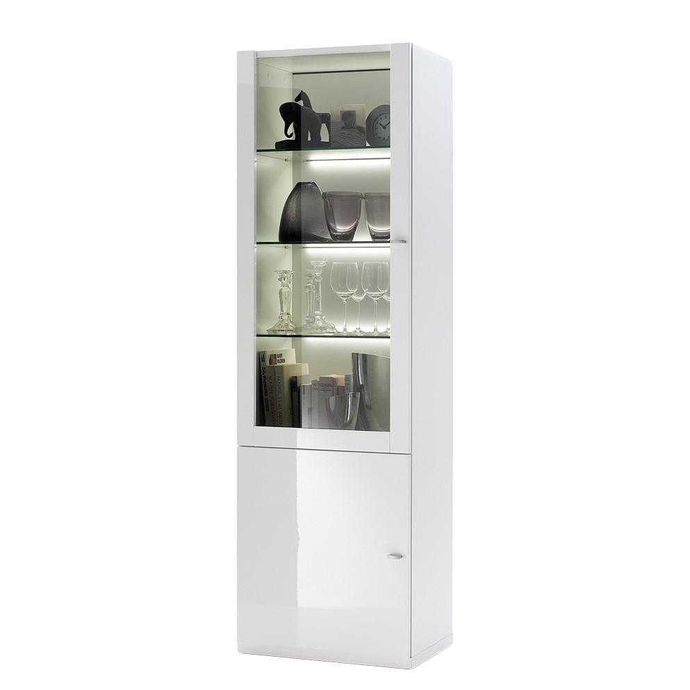 vitrine sigino wei hochglanz t ranschlag links ohne. Black Bedroom Furniture Sets. Home Design Ideas
