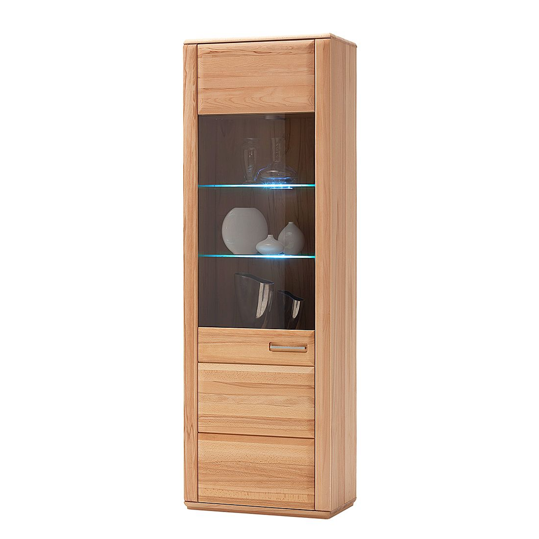 vitrine structura buche teilmassiv ge lt t ranschlag links. Black Bedroom Furniture Sets. Home Design Ideas
