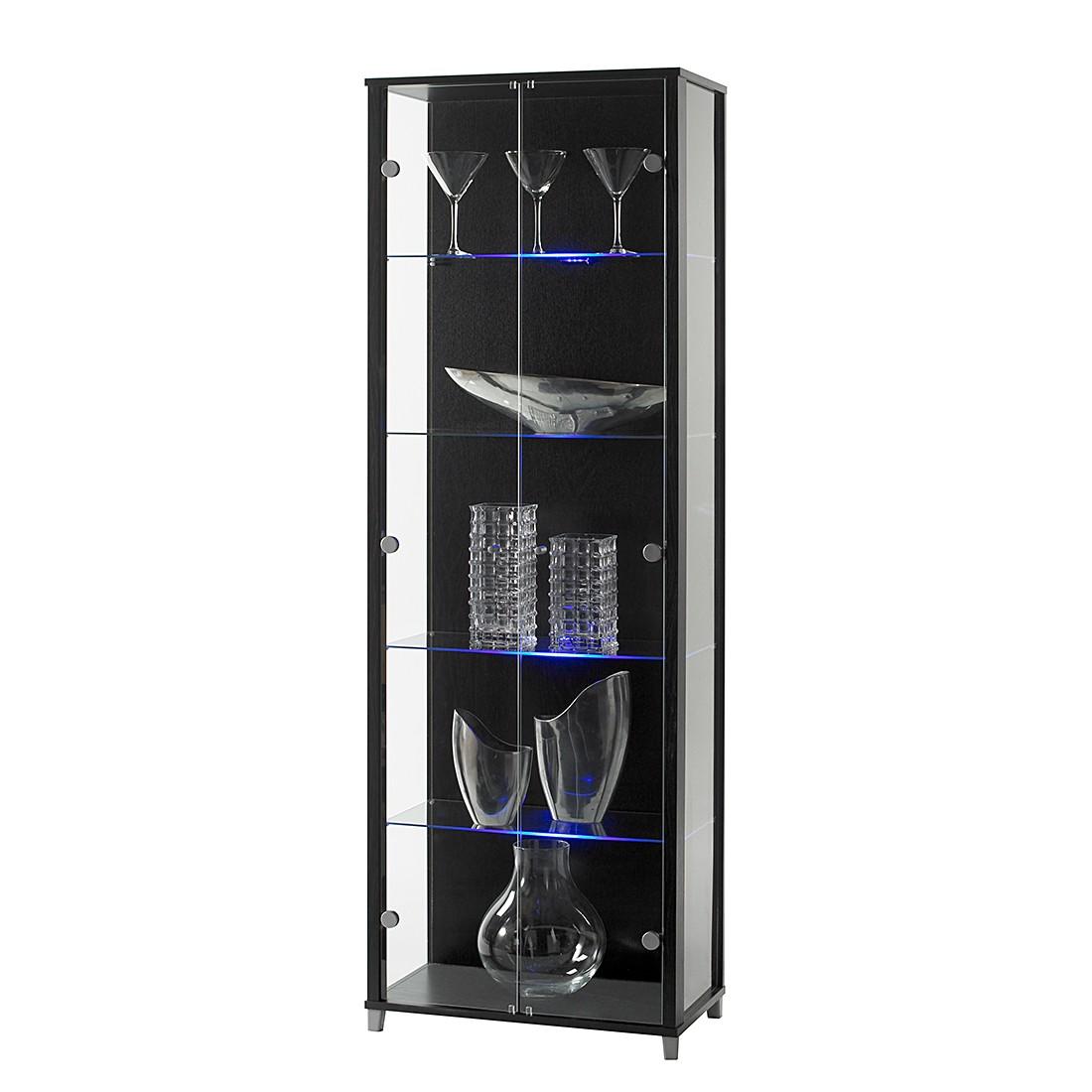 EEK A+, Vitrine Exhibit II – mit LED-Beleuchtung – Klarglas/Schwarz, Modoform jetzt kaufen