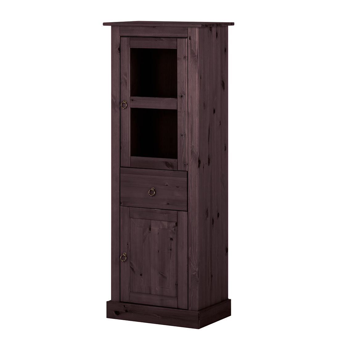 vitrine zeta i kiefer massiv havanna. Black Bedroom Furniture Sets. Home Design Ideas