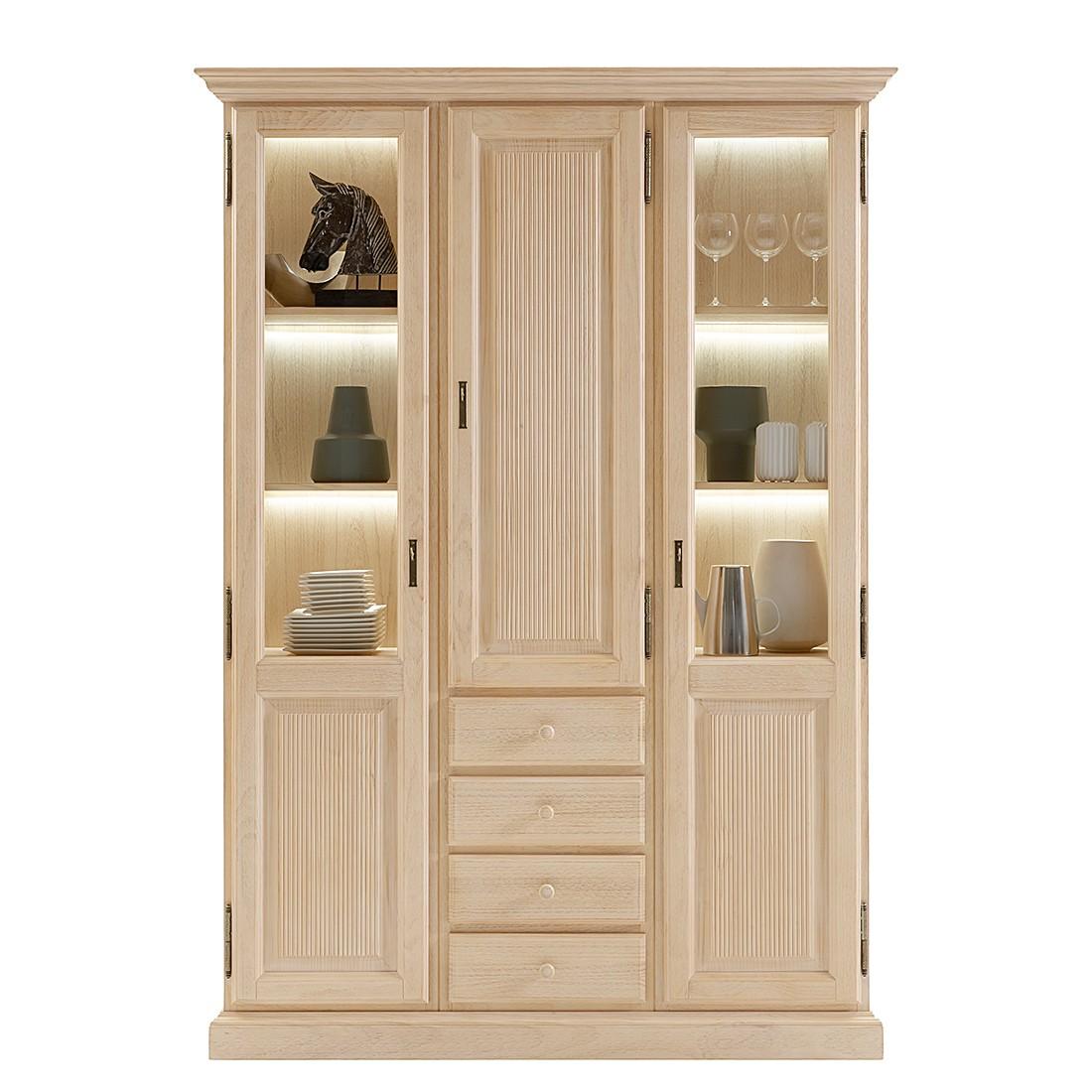 vitrinenschrank breddin ii pinie massiv ohne. Black Bedroom Furniture Sets. Home Design Ideas