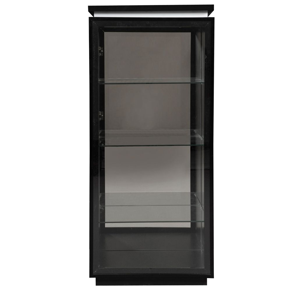 vitrinenschrank menton mdf glas schwarz klar schrank. Black Bedroom Furniture Sets. Home Design Ideas