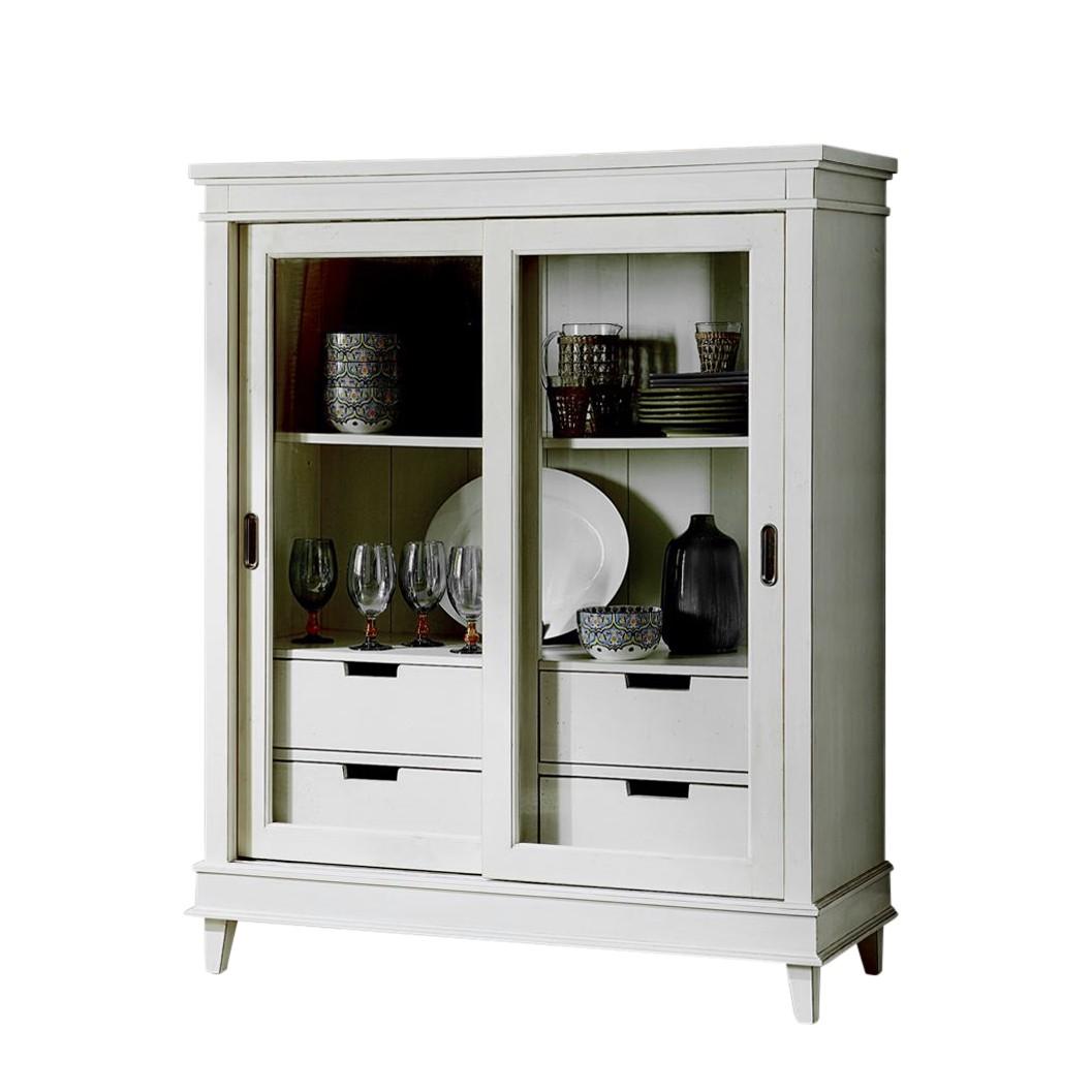 vitrinenschrank wei online kaufen. Black Bedroom Furniture Sets. Home Design Ideas