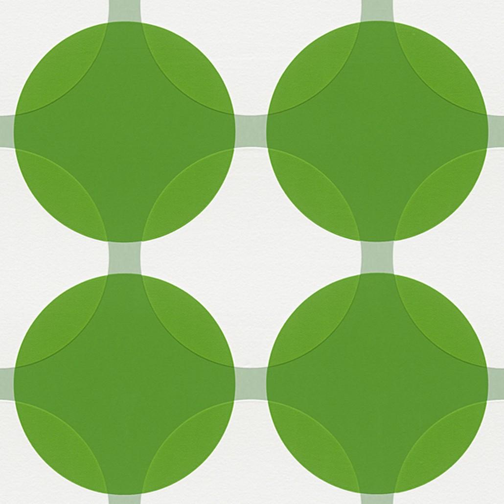 Vliestapete Aisslinger – Signalweiß, Grasgrün – Glatt, Livingwalls online kaufen