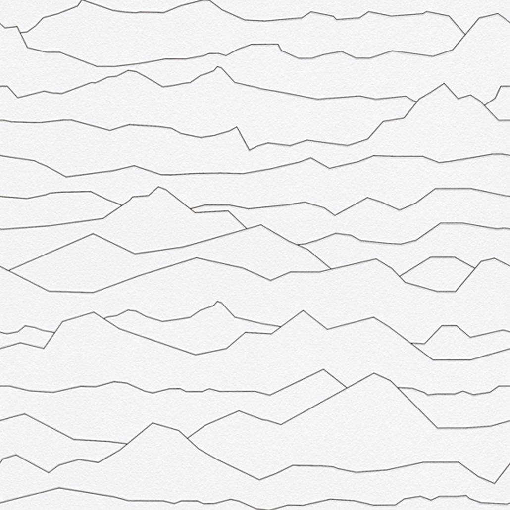 Vliestapete Aisslinger – Signalweiß, Schwarzblau – Glatt, Livingwalls jetzt kaufen