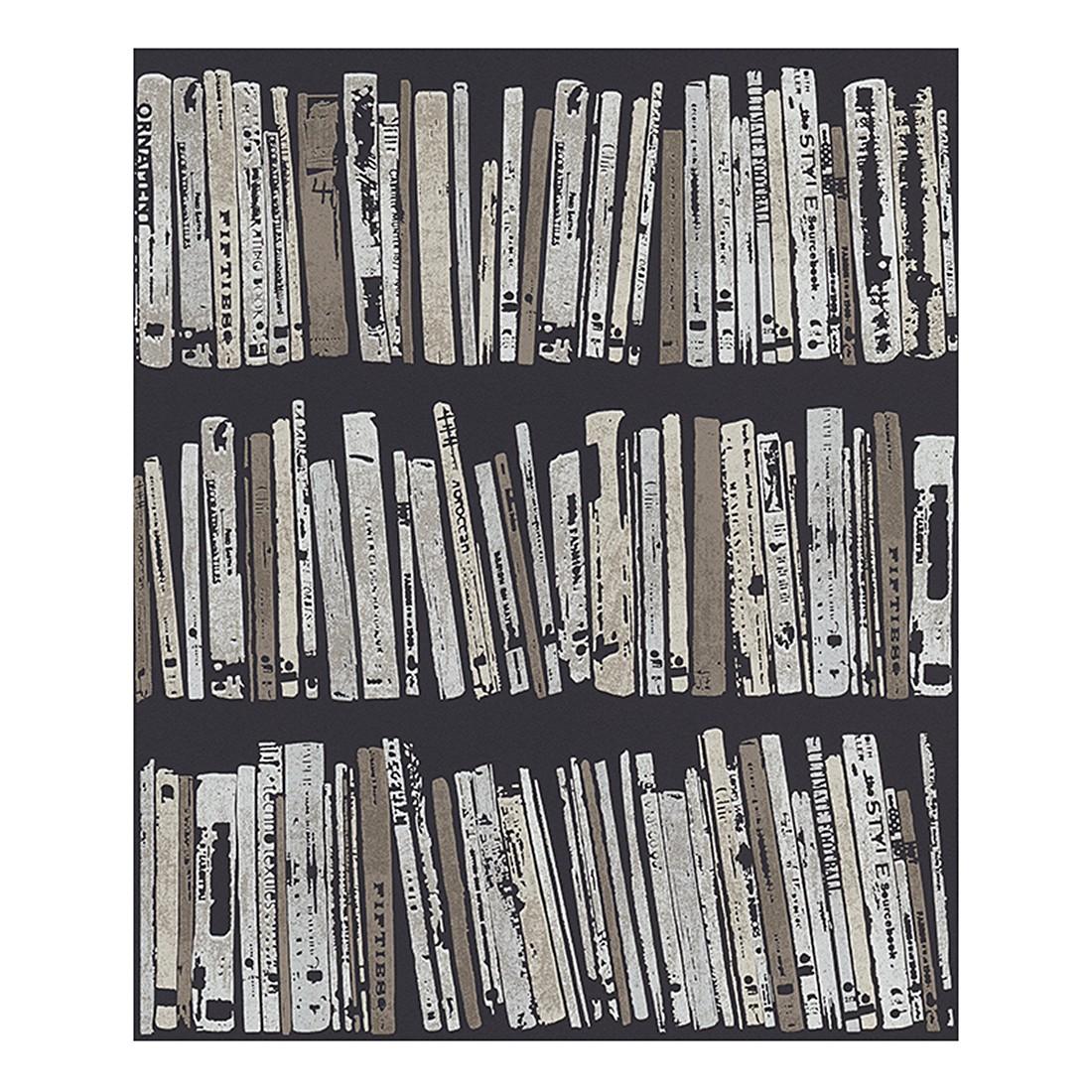Vliestapete Bohemian Rapsody – braun, grau, schwarz – strukturiert, Schöner Wohnen Kollektion jetzt bestellen