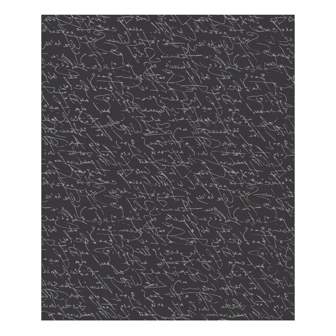 Vliestapete Bohemian Rapsody – schwarz, silber – strukturiert, Schöner Wohnen Kollektion bestellen