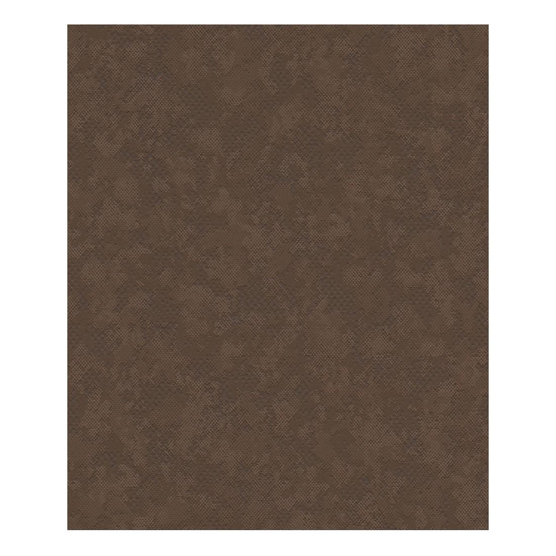Vliestapete Honolulu – schokoladenbraun – fein strukturiert, strukturiert, Metropolis by Michalsky Living jetzt bestellen