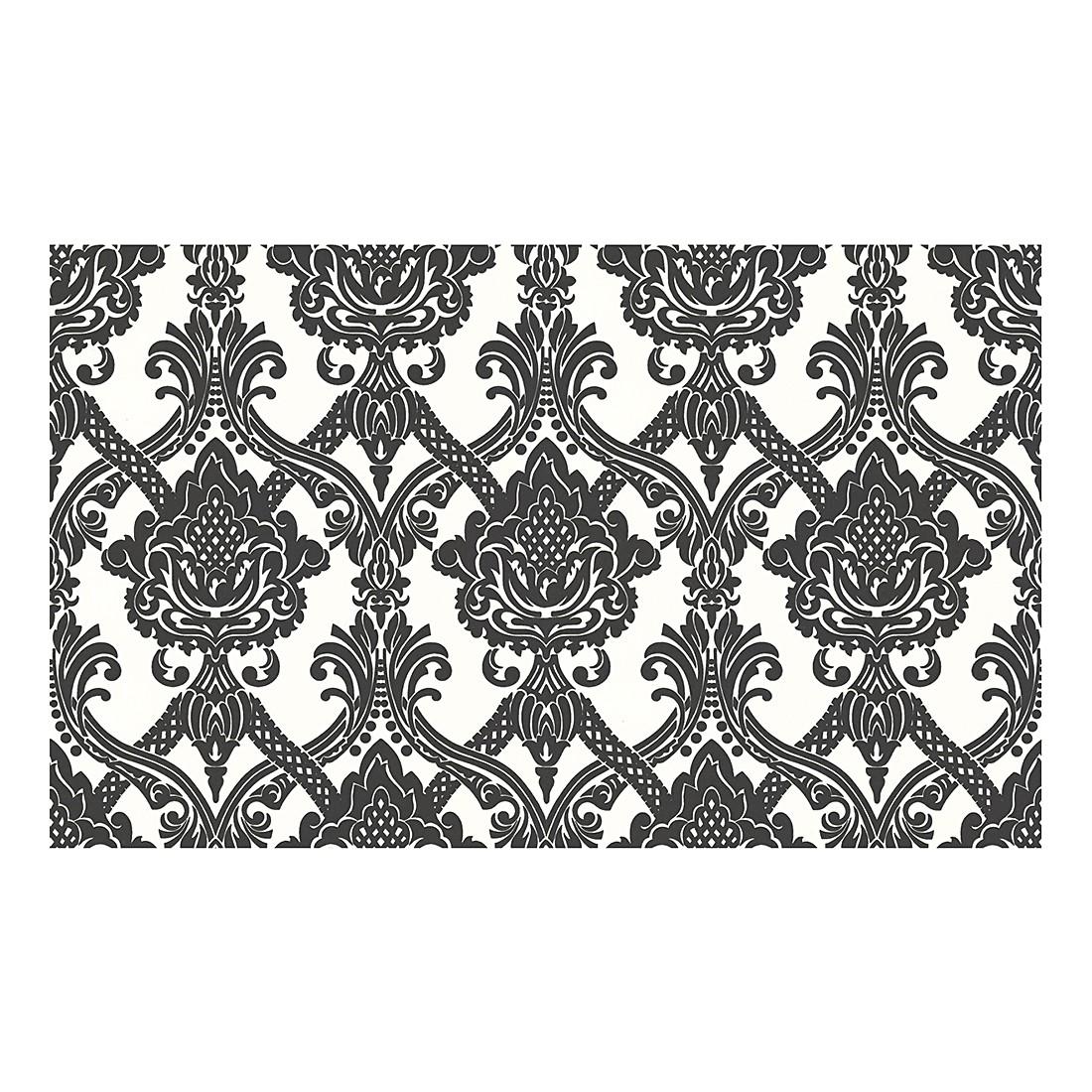 vliestapete modern baroque schwarz wei strukturiert. Black Bedroom Furniture Sets. Home Design Ideas