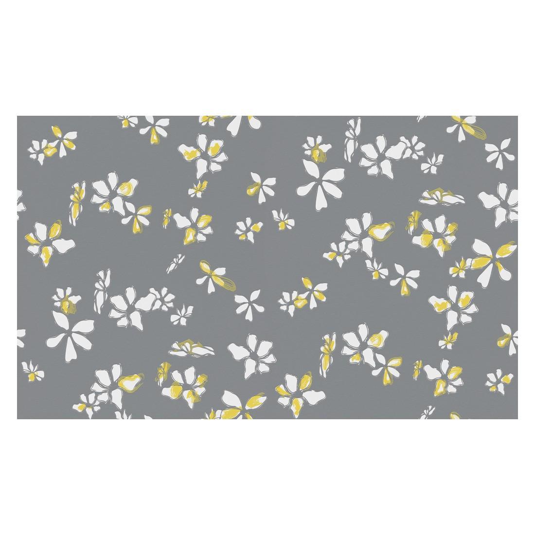 Vliestapete NAF-NAF – gelb, grau, weiß – fein strukturiert – glatt, Home24Deko online bestellen