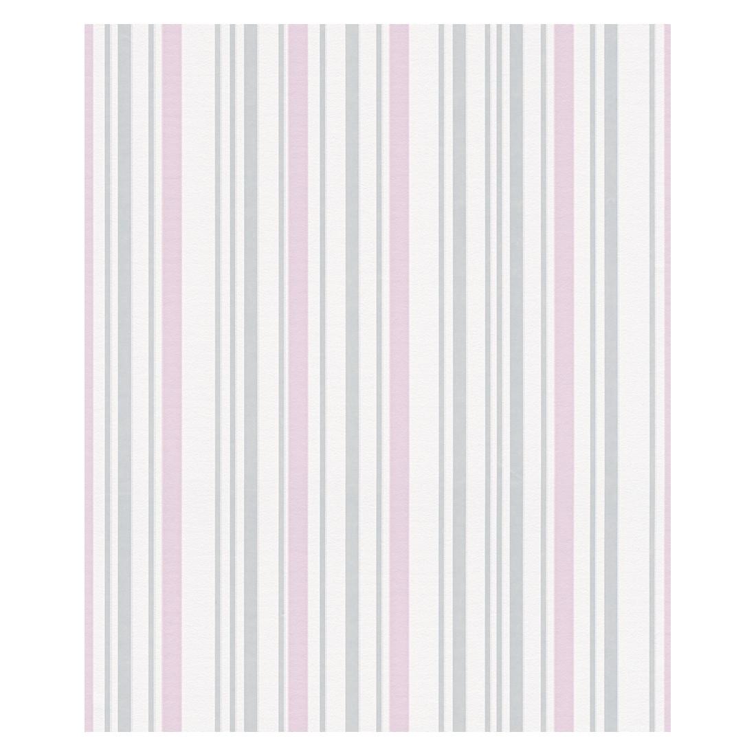 Vliestapete NAF-NAF – grau, rosa, weiß – strukturiert, Home24Deko günstig online kaufen