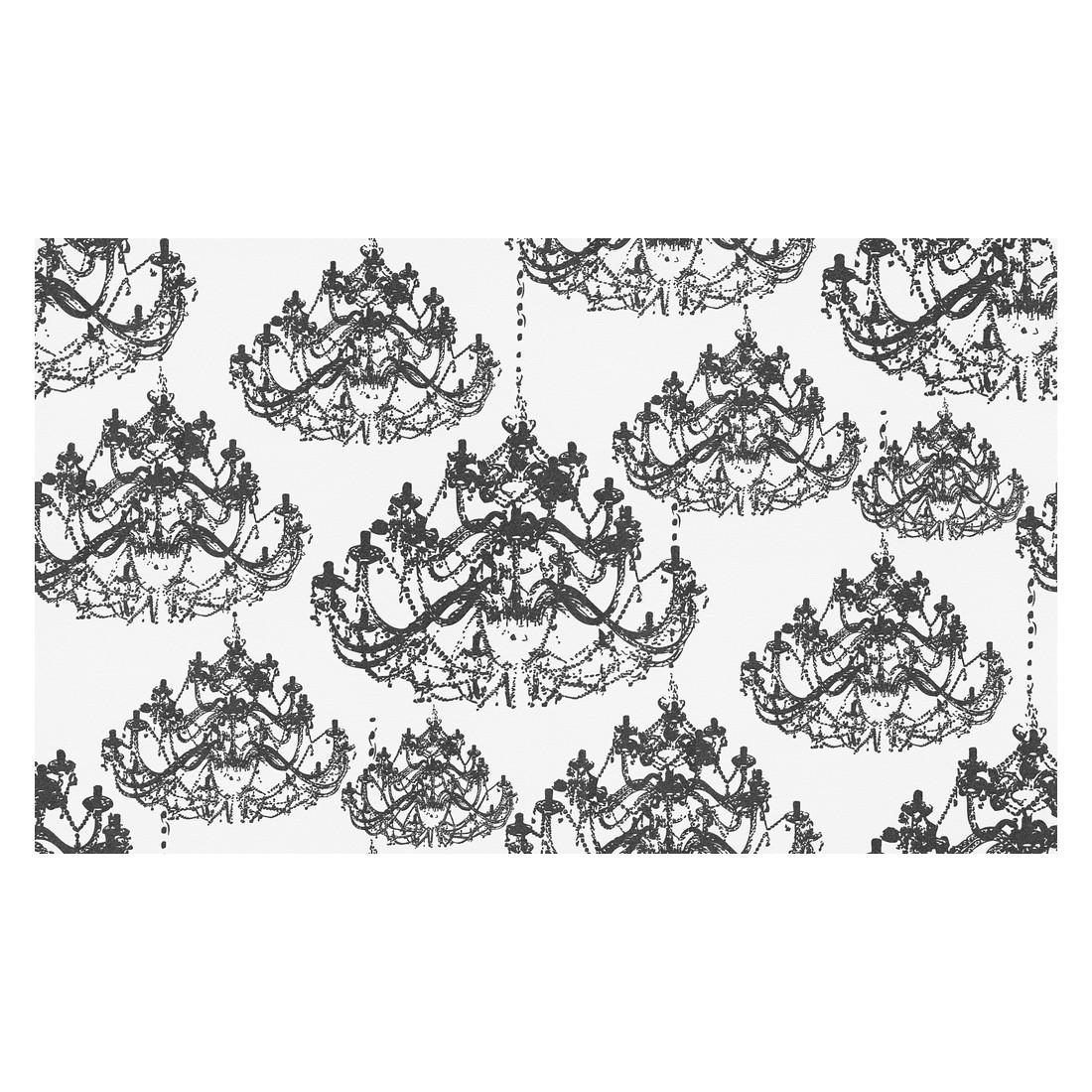 Vliestapete NAF-NAF – metallic, schwarz, weiß – strukturiert – glatt, Home24Deko günstig kaufen