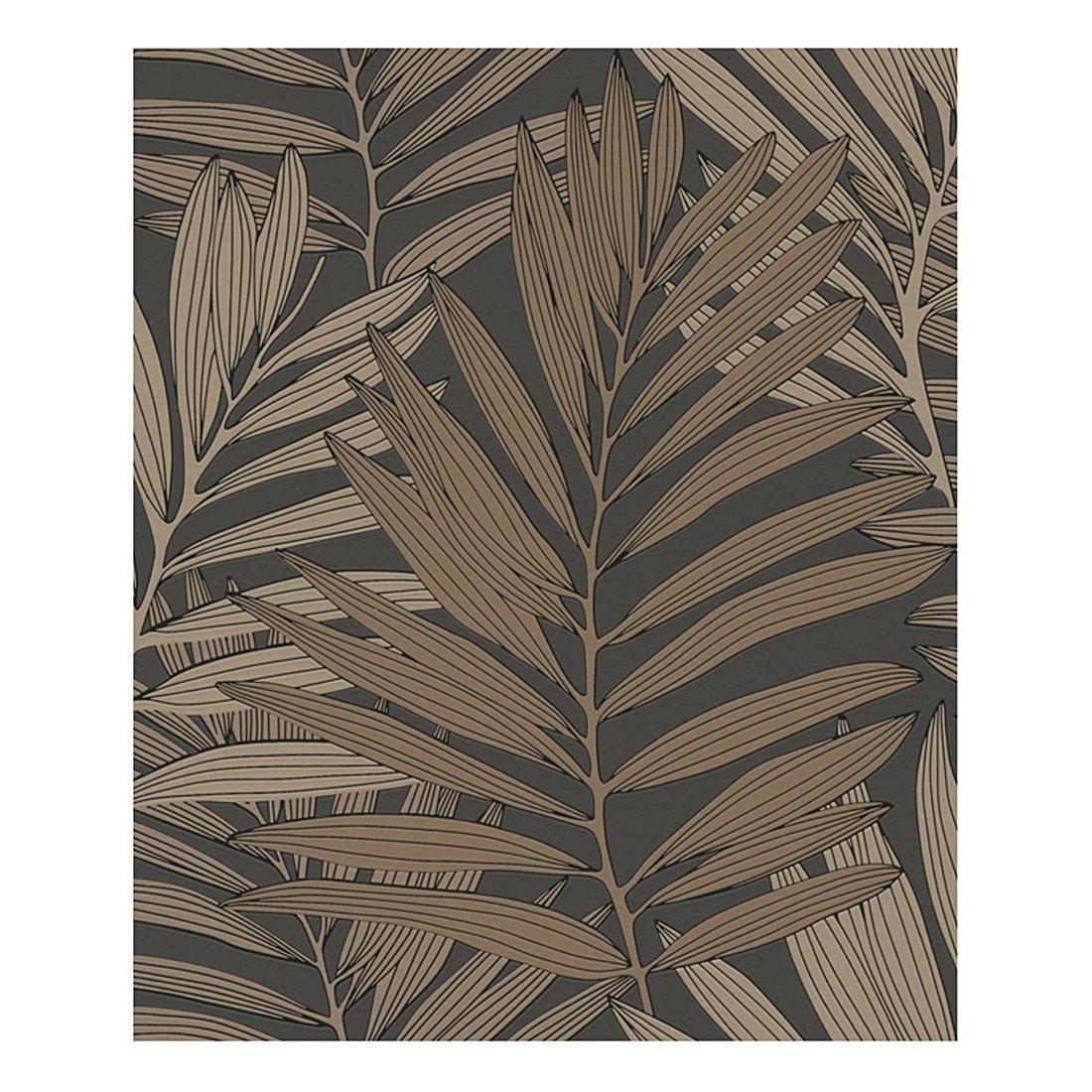 Vliestapete Palm Springs – graubraun, blassbraun, beige – strukturiert, Metropolis by Michalsky Living jetzt kaufen