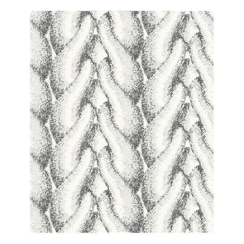 Vliestapete Rough Loops – weiß, schwarz – fein strukturiert – glatt, Lars Contzen günstig bestellen