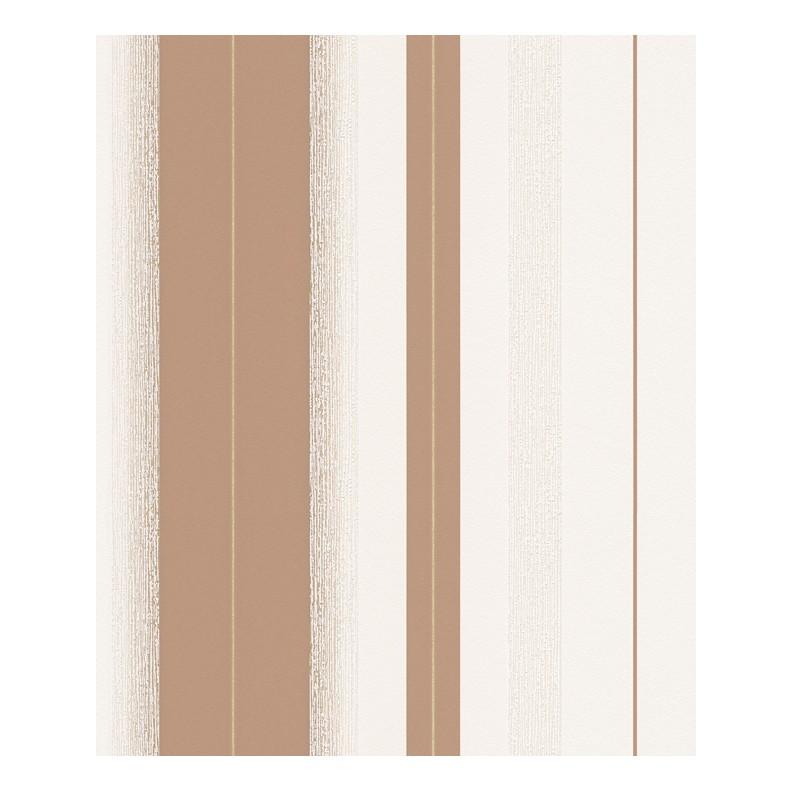 Vliestapete Schöner Wohnen – blassbraun, reinweiß, cremeweiß, goldfarben – fein strukturiert – glatt – Modell 2, Schöner Wohnen Kollektion jetzt kaufen
