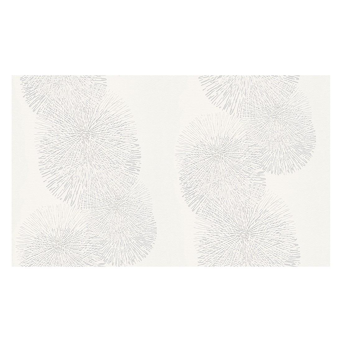 Vliestapete Schöner Wohnen – signalweiß, silberfarben – fein strukturiert – glatt – Modell 1, Schöner Wohnen Kollektion bestellen