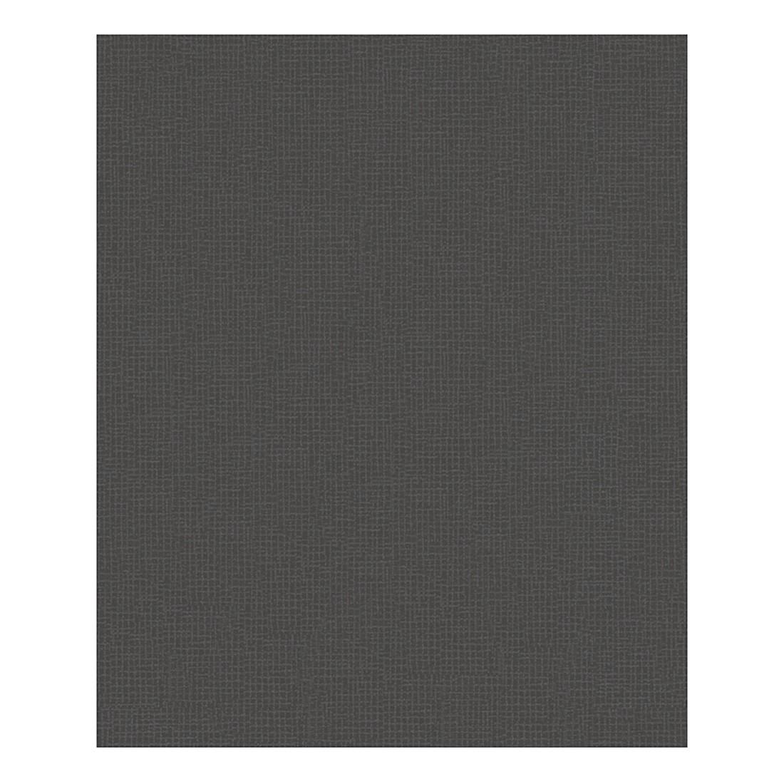 Vliestapete Streamline – schwarz – fein strukturiert, Livingwalls günstig