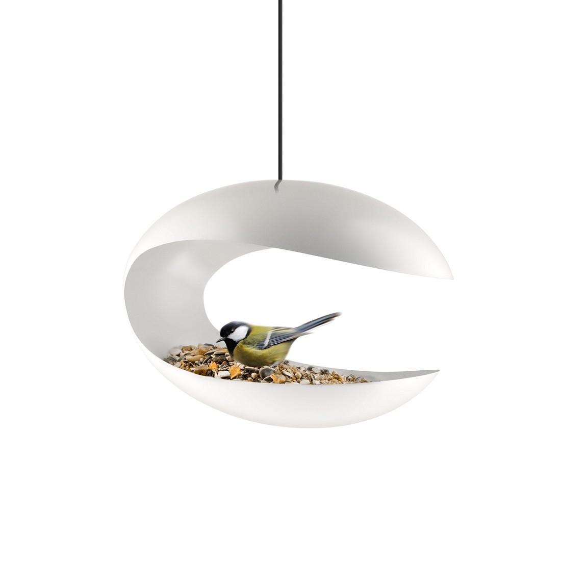 Vogelfutterhaus Bird Table Hängeversion - Pulverbeschichtet Edelstahl Pulverbeschichtet Weiß, Eva Solo