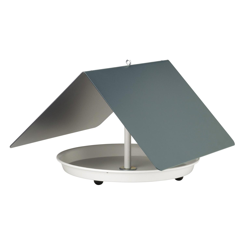 Vogelhaus Birdy - Aluminium - Grau, Flora